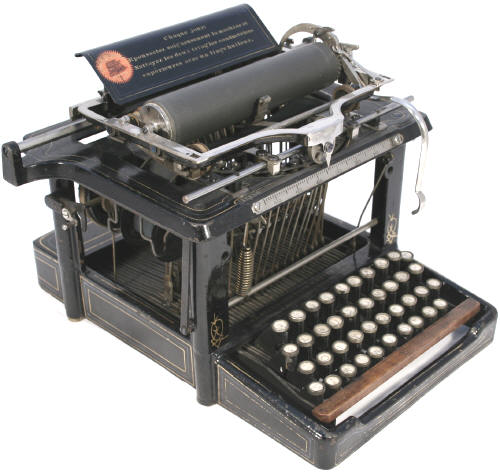 invention of typewriter Typewriter: typewriter, any of various machines for writing characters similar to those made by printers' types, especially a machine in which the characters are produced by steel types striking the paper through an inked ribbon with the types being actuated by corresponding keys on a keyboard and the paper.