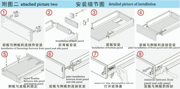 How to install double wall drawer slide? With a detailed ...
