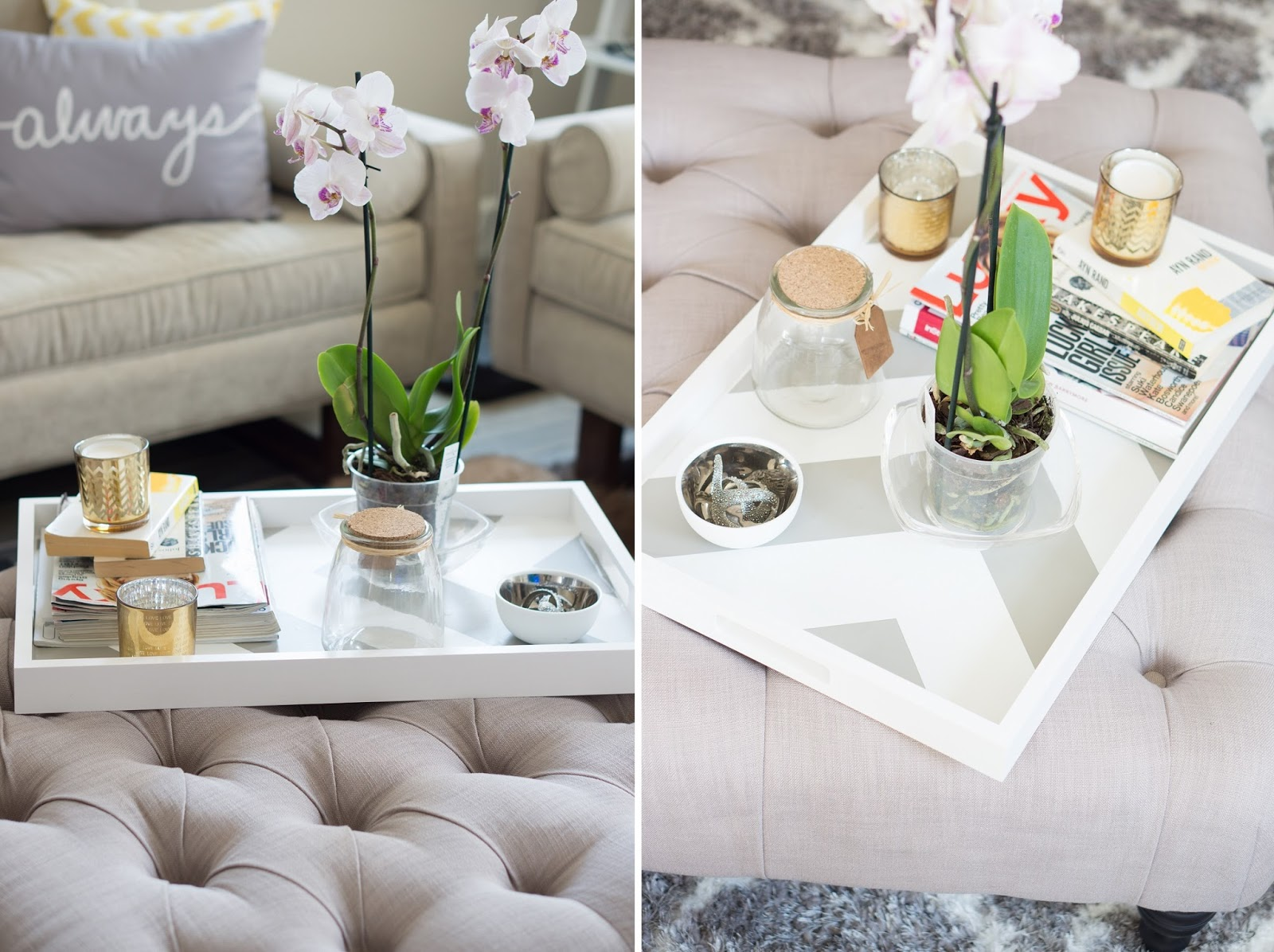 Inspiring style diy coffee table tray oh to be a muse inspiring style diy coffee table tray geotapseo Choice Image