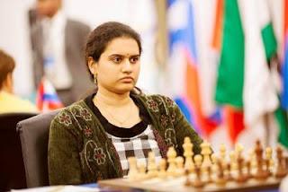 Échecs à Kazan: l'Indienne Humpy Koneru (2589) a 3 victoires à son actif et 7 nulles - Photo © Fide