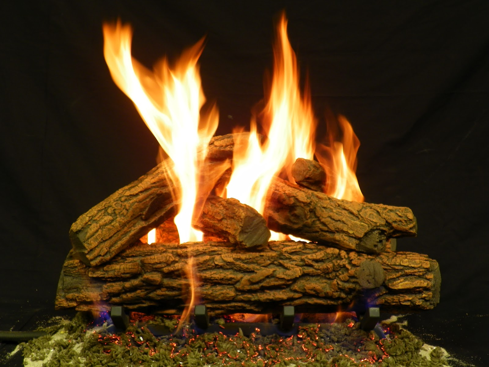 Artificial Burning Logs