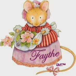 mouse with apron full flowers image