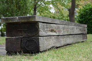 枕木 施工例 ベンチ