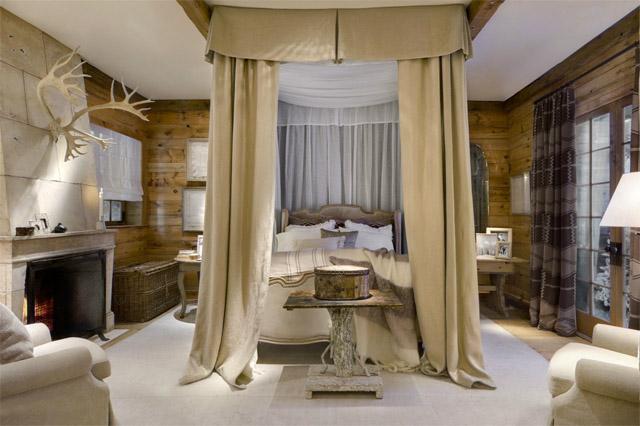decoracion-dormitorio-rustico-chic-cama-dosel