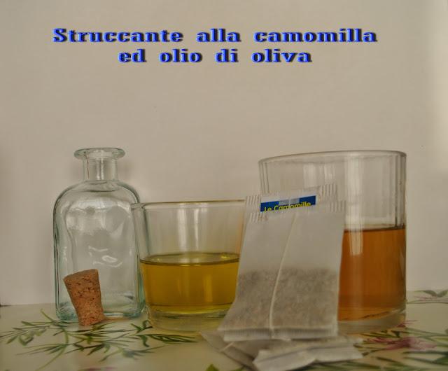 struccante naturale all'olio di oliva e camomilla come realizzare uno struccante naturale proprietà olio evo come usare l'olio di oliva nei cosmetici rimedi contro la dermatite struccante alla camomilla colorblock by felym beauty blog le ricette garnier expo experience