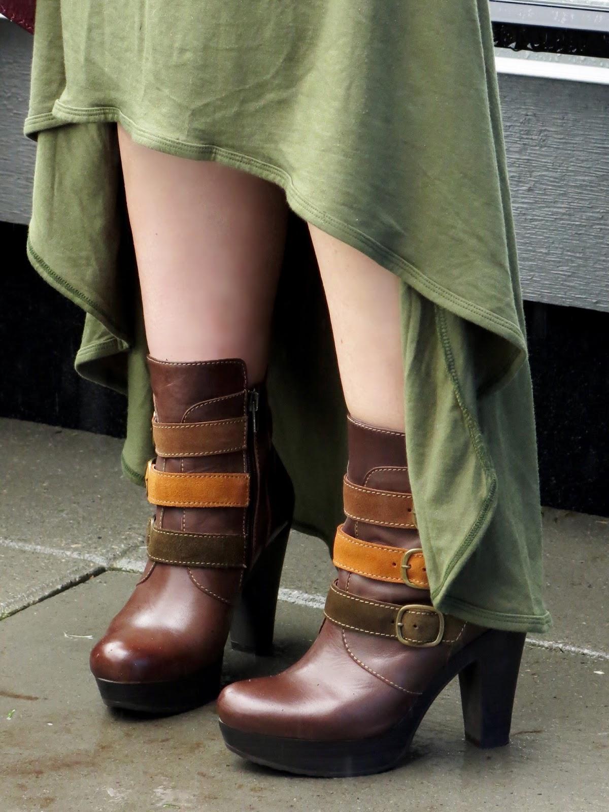 high-low dress, Bruna platform booties