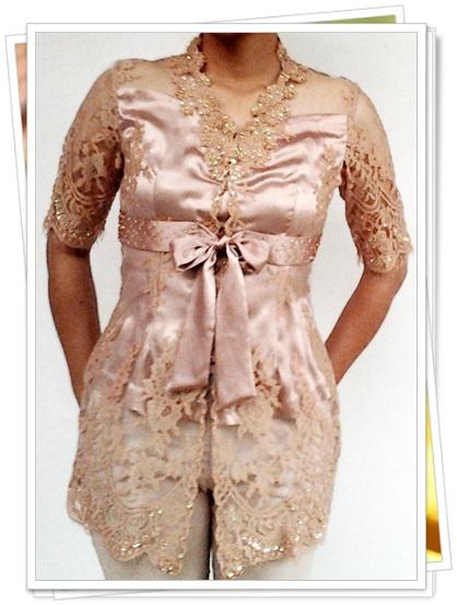 contoh desain model kebaya modern terbaru wanita gambar