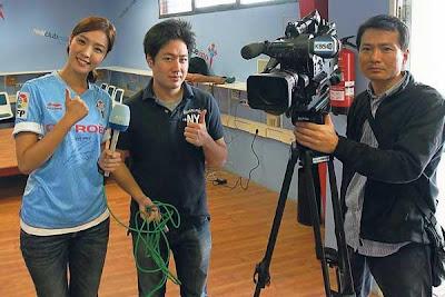 Periodistas coreanos en Vigo por la llegada de Park