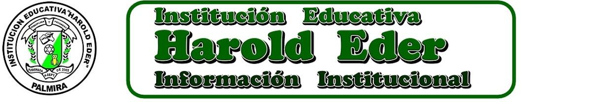 INSTITUCIÓN EDUCATIVA HAROLD EDER