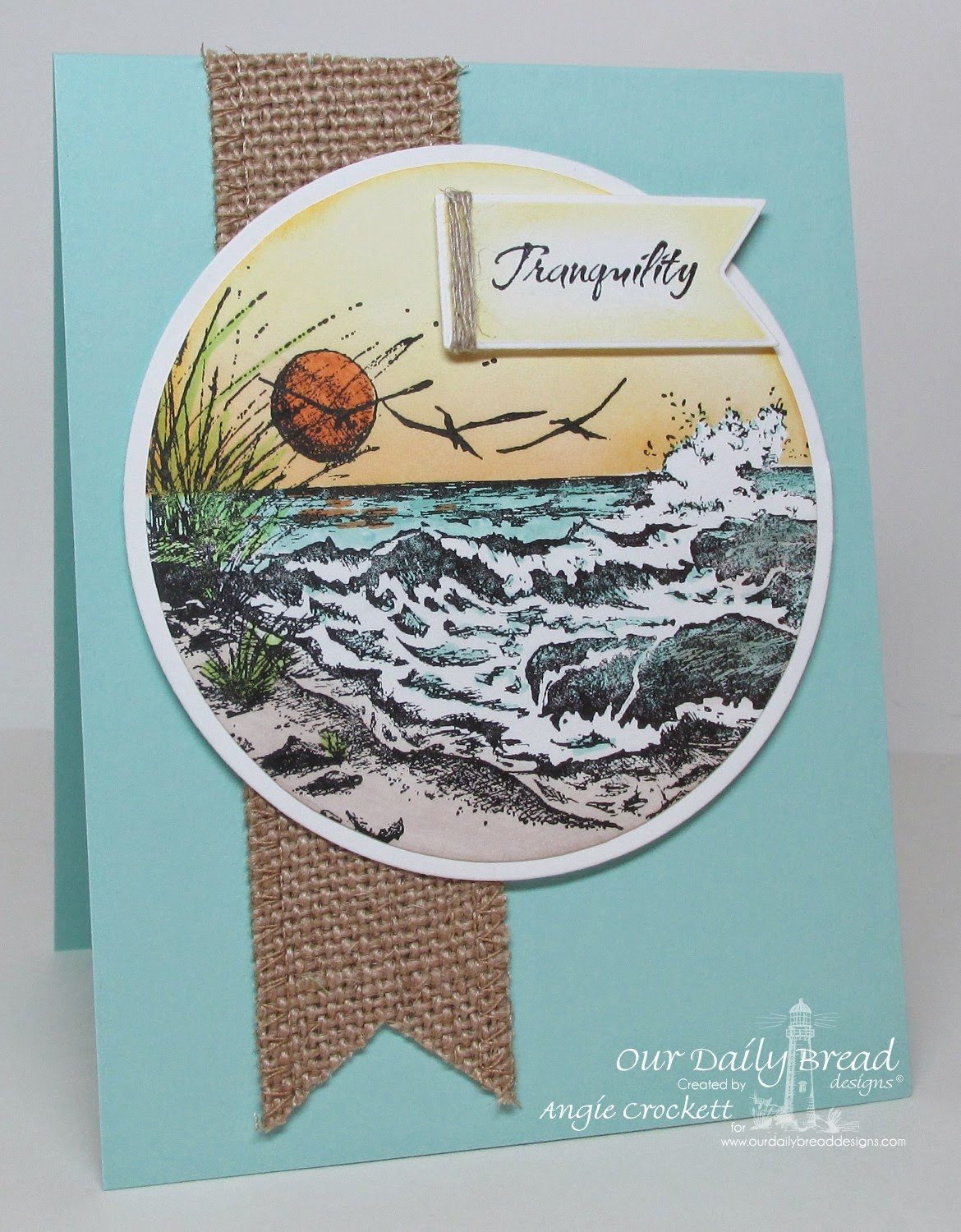 ODBD The Mighty Sea, Fishing, ODBD Custom Pennants Die Set, Card Designer Angie Crockett