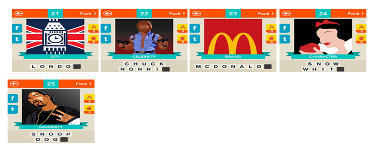 Iconica Level Pack 5 Answers and Cheats No.51 – No.75 ...