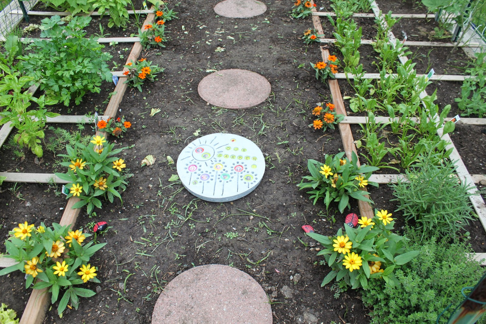 Keeping up with the kiddos garden stepping stone for Rock stepping stones landscaping