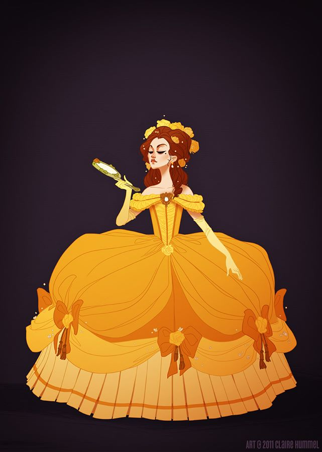 Vestidos históricos das princesas Disney.