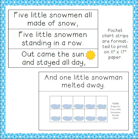 Teaching The Little People Five Little Snowmen Interactive Pocket