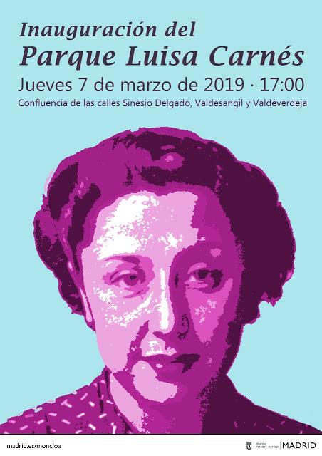 7 de marzo   Parque Luisa Carnés