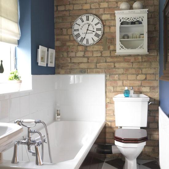 Дизайн маленькой ванной комнаты в английском стиле