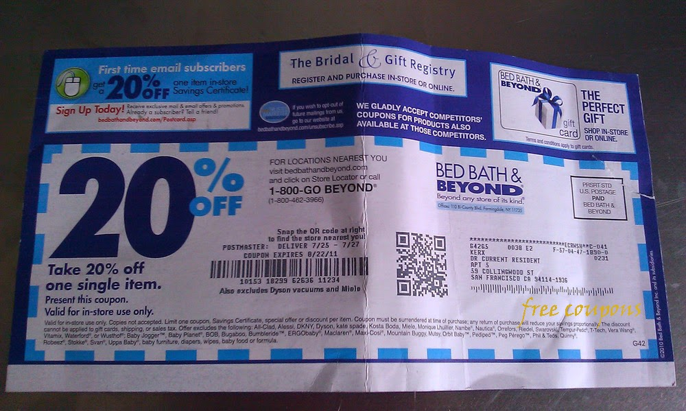 20 percent coupon bed bath and beyond online