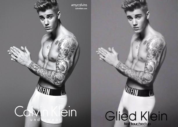 Bieber's Calkin Klein Comparison