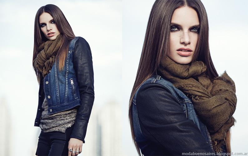 Camperas de jeans otoño invierno 2014 Mab.