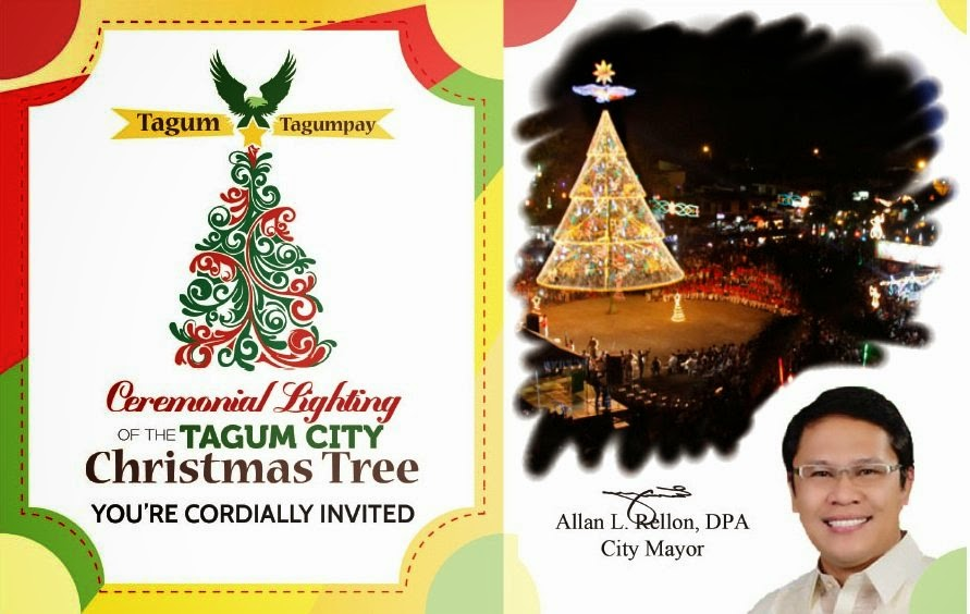 Tagum City Christmas Tree - Ceremonial Lighting 2014