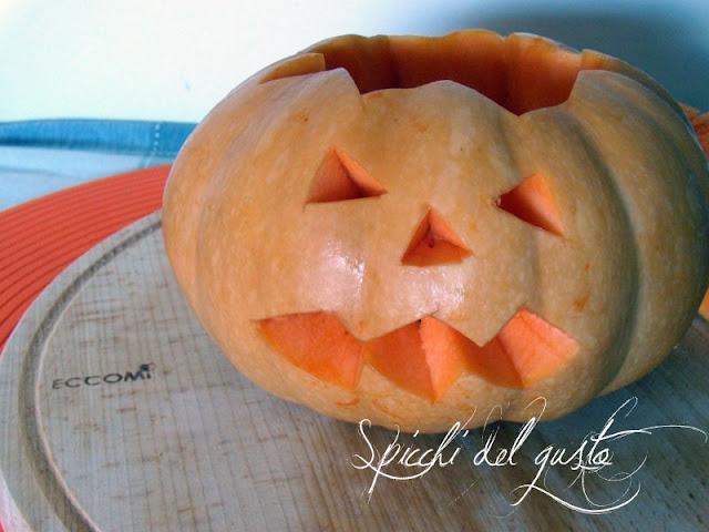 Zucca per halloween decorativa