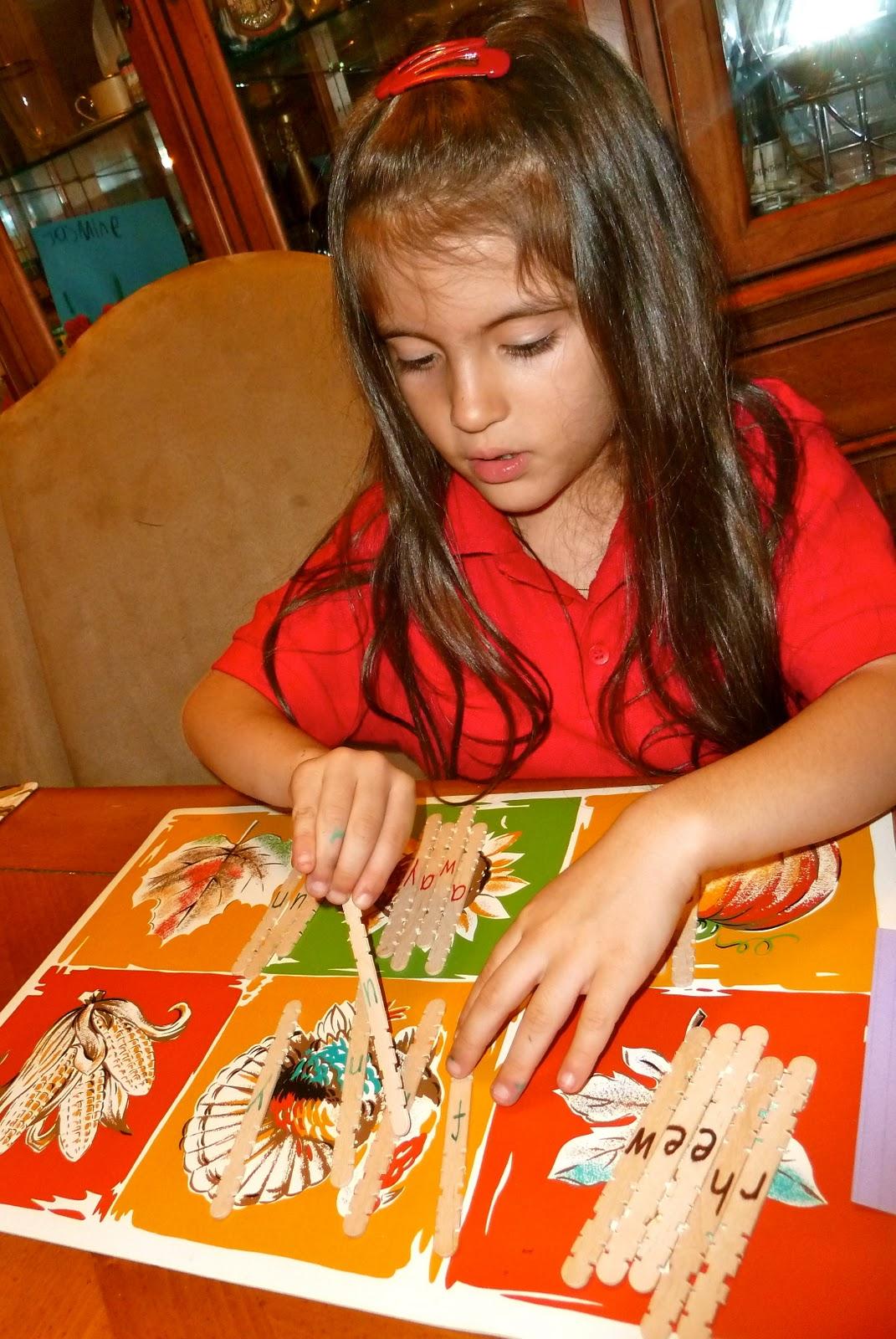 Mom to 2 Posh Lil Divas Kindergarten Fun Craft Stick Sight Word – Simple Listing Words