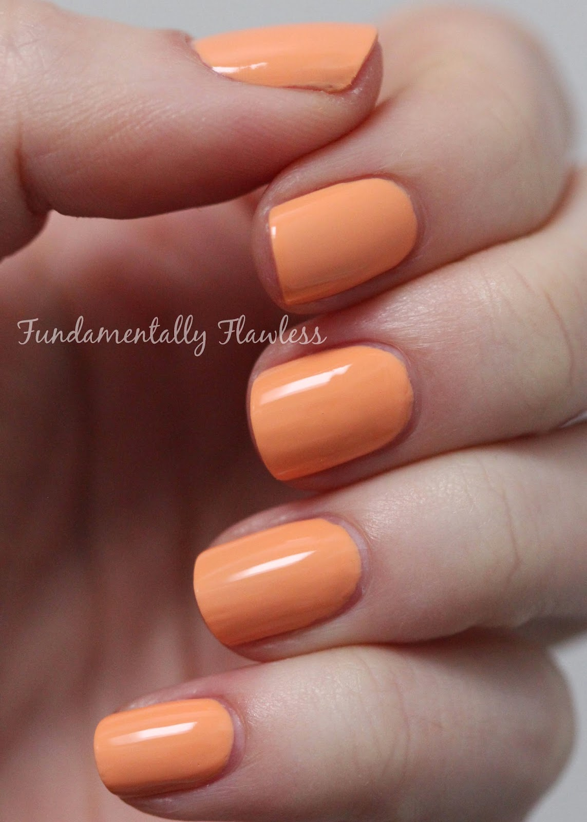 Barry M Full Throttle speedy dry swatch - pastel orange