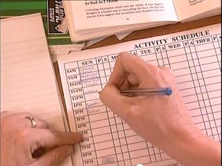 CBT activity schedule sheet