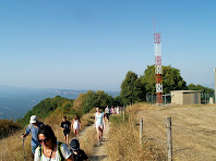 Antena de comunicacions en el Camí de Monteis a Rajols