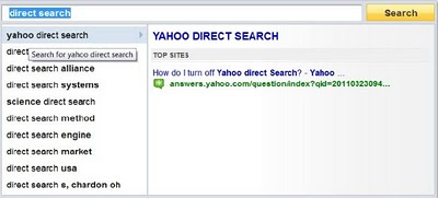 Yahoo Direct Search Curiosity