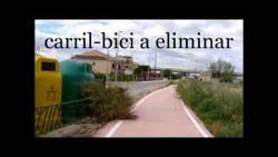 Carril-bici a eliminar (video)