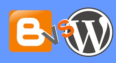 perbedaan blogger dengan wordpress