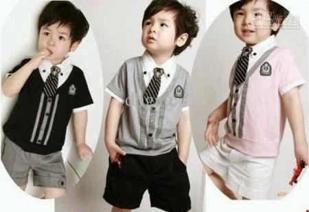 Model baju kemeja anak laki-laki korea keren