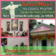 Que tal participar de uma missa no coração da Floresta da Tijuca?