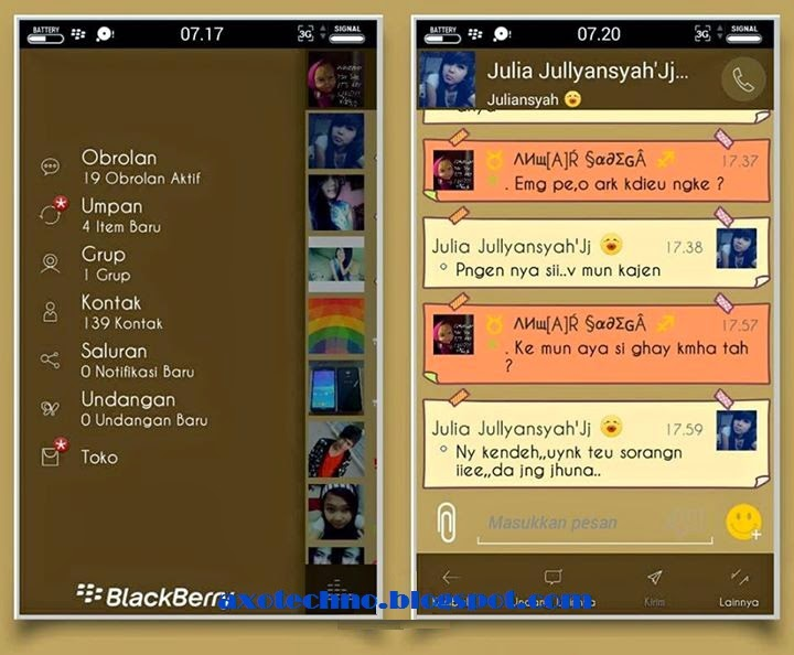 BBM Mod Brown Version 2.7.0.23 Apk New for Android