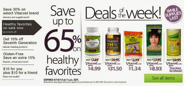 vitacost healthy favourites sale