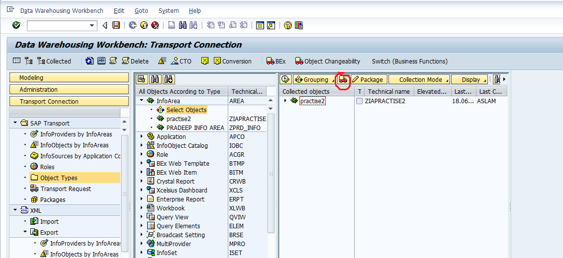 transport business function activation sap