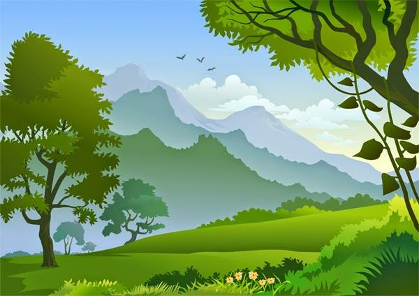 gambar gunung kartun