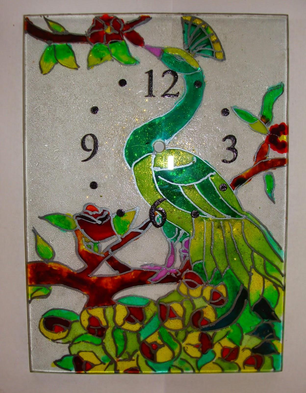 Creando sue os relojes pintados a mano con lacas vitrales - Vidrio plastico para cuadros ...