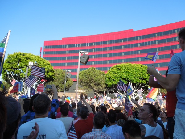 West Hollywood DOMA and Prop 8 victory rally