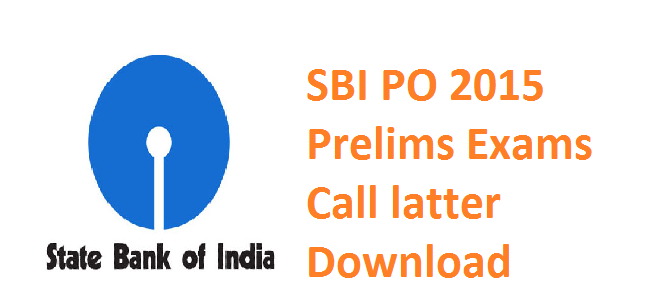 SBI PO 2015 Admit cards