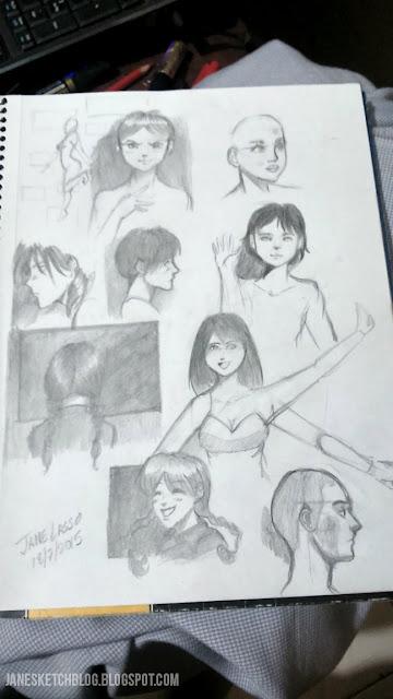 Bocetos a lápiz
