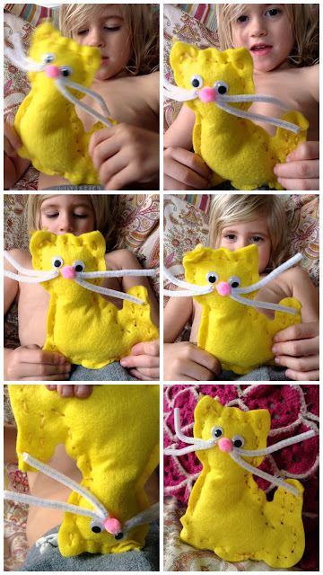 upcycled felt sewing project for kids