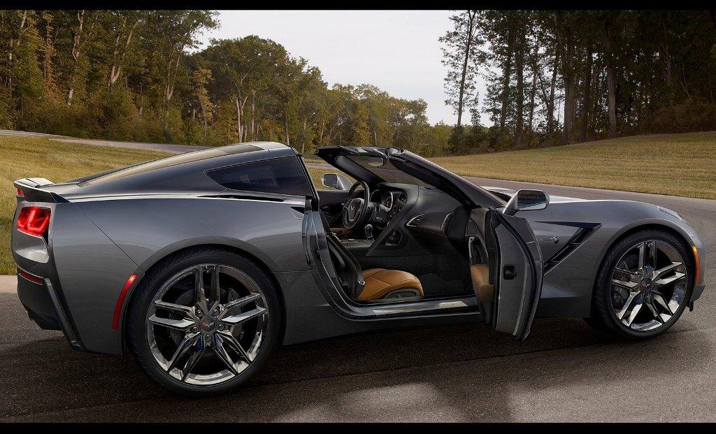car wallpaper chevrolet corvette c7 stingray 2014 black side door open. Cars Review. Best American Auto & Cars Review