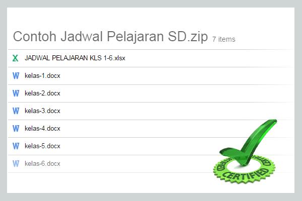 Download Jadwal Pelajaran SD Kelas 1 Sampai 6 SD, SMP dan SMA Format Word dan Excel