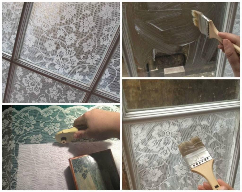 Diy Lace Window Treatment With Cornflour Creative Ideas