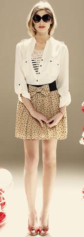 minifalda lunares