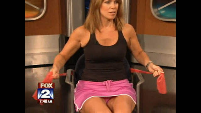 Fox female anchor upskirt