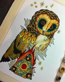 Melhores desenhos de coruja para tatuagens