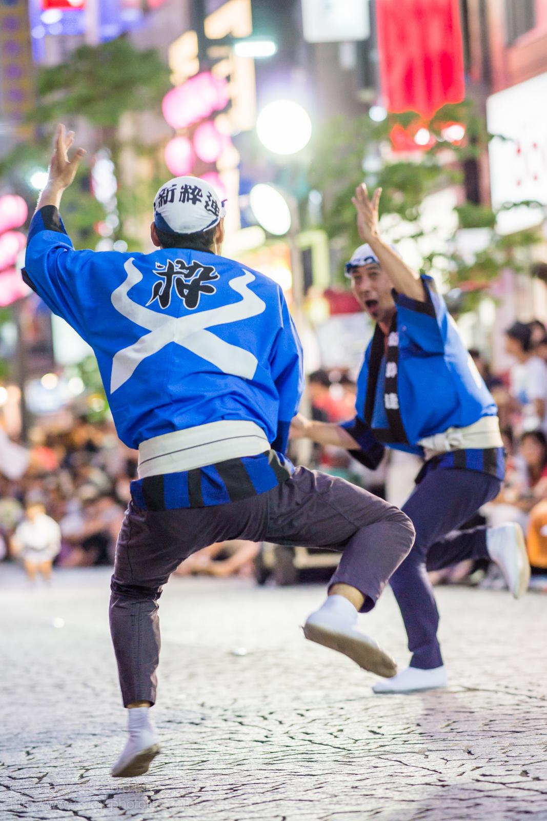 三鷹阿波踊り、新粋連の心踊る男踊り
